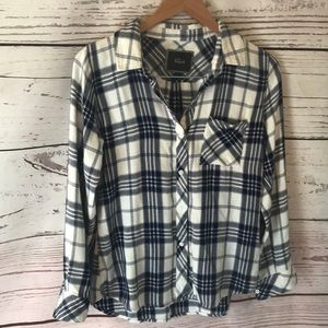 RAILS small blue and white plaid flannel